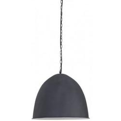Casa Padrino Hängeleuchte Industrial Design Grau Durchmesser 47 x H. 50 cm - Industrie Lampe Leuchte Industrieleuchte