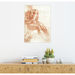 Posterlounge Wandbild, Sitzender Männerakt – Studie 50 cm x 70 cm