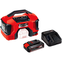Einhell Kompressor PRESSITO, 90 W, max. 11 bar, 20 l, Set, Power X-Change, 2,5 Ah, inkl. Akku, Ladeg., Absaug-Adapter