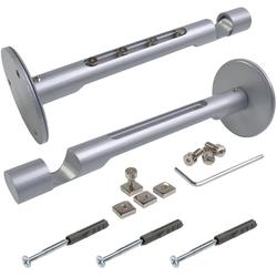 Kombiträger, Liedeco, Gardinenschienen, Gardinenstangen, (1-St), für Flächenvorhangschiene und Gardinenstangen Ø 20 mm silberfarben