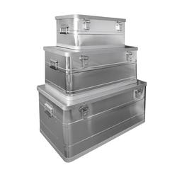 Aluboxen 3er Set 45/90/140 Ltr. Alubox Aufbewahrung Box Set Koffer