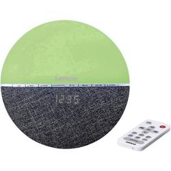 Lenco CRW-4GR Radiowecker UKW Bluetooth® Stimmungslicht Grau