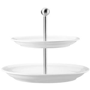 Thomas Trend Weiss Etagere 2-tlg. Oberer Teller 22cm / Unterer Teller 26 cm Trend weiß 11400-800001-25317