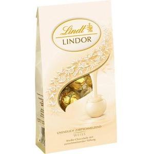 Lindt Pralinen Lindor Weiss, weiße Schokolade mit zartschmelzender Füllung, 137g