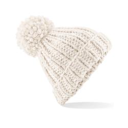 Oversized Hand-Knitted Beanie | Beechfield Oatmeal
