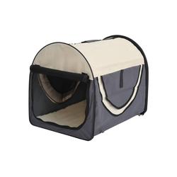 PawHut Tiertransportbox Hundetransportbox in Größe L grau