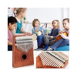 COSTWAY Spielzeug-Musikinstrument Daumenklavier, Kalimba 17 Schlüssel, Thumb Piano mit Stimmhammer