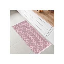 Teppich Kelim, Fashion Home, Läufer, Flur Teppich, Teppich Läufer, Boho Kelim Teppich rosa Läufer - 80 cm x 200 cm