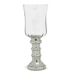 matches21 HOME & HOBBY Kerzenständer Teelichtgläser Tulpenform Kerzenhalter 22 cm