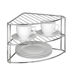 WENKO Geschirreckregal mit 2 Ablagen, Zusätzlicher Stellplatz für Geschirr und Kochutensilien, 1 Stück