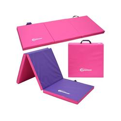eyepower Fitnessmatte XL Gymnastikmatte Sport-, Turn- und Bodenmatte, Weichbodenmatte pink