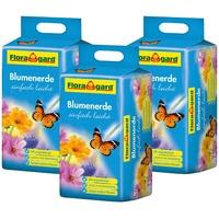 Floragard Blumenerde einfach leicht 3 x 25 l