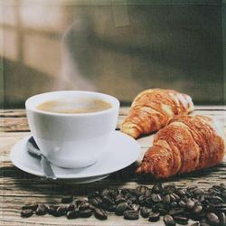 framsohn Geschirrtuch Vollflächendruck 'Frühstück' 50 x 50 cm