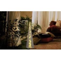 Polarlite PDE-04-002 Acryl-Figur Pyramide Warmweiß LED Transparent