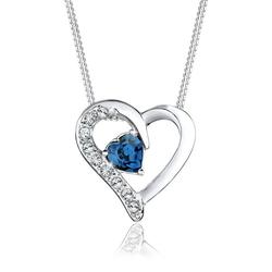 Elli Collierkettchen Herz Kristalle 925 Silber Romantique