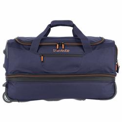 Travelite Basics 2-Rollen Reisetasche 55 cm marine orange