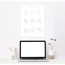Posterlounge Wandbild, Stuhl Designklassiker 50 cm x 70 cm