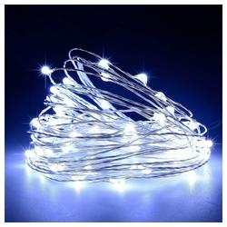 TOPMELON Lichterkette, 2M / 3M / 5M / 10M, Wasserdichte, Dekorative leichte Kette weiß 10 m