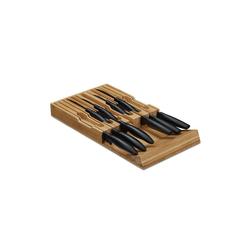 relaxdays Messerblock Messerhalter Schublade für 12 Messer