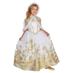 Halloween Girls' Snow Queen Deluxe Costume M (7-8) - Hyde & EEK! Boutique , Size: Medium