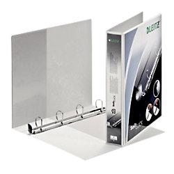 Leitz Präsentations-Ringbuch Pappe, Folie DIN A4+ 4 Ringe 30 mm Weiß