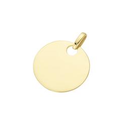 Luigi Merano Kettenanhänger Gravurplatte zum gravieren, Gold 585
