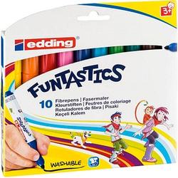 10 edding FUNTASTICS e-14 Filzstifte farbsortiert