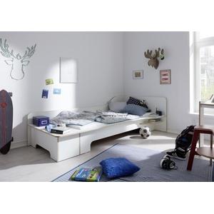 """PLANE Einzelbett anthrazit links nein 90 x 210 cm """"PLANE Einzelbett anthrazit"""""""