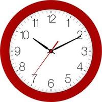 EUROTIME 88800-01-2 Quarz Wanduhr 30cm x 4.5cm Kirschrot Schleichendes Uhrwerk (lautlos)