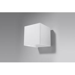 Licht-Erlebnisse Wandleuchte GEO Aufbaustrahler Weiß klein eckig Bauhaus H:10cm Treppe Flur