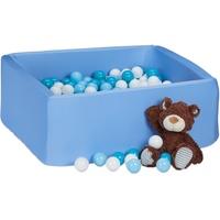 Relaxdays Bällebad blau inkl. 200 Bällen
