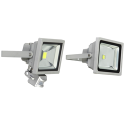LED Fluter mit Bewegungsmelder, 20 W, 230 V, 1200 lm, IP44 in grau