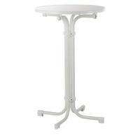 BEST Freizeitmöbel Multiflex Gartentisch Ø 70 x 110 cm weiß klappbar
