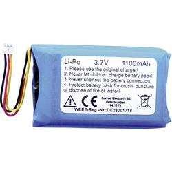 1Z10116 Spezial-Akku Stecker LiPo 3.7V 1100 mAh