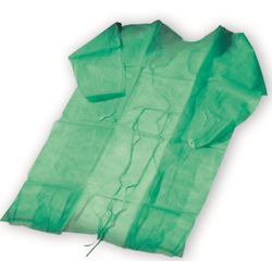 BeeSana® PP-Kittel 23 g, Schutz-Kittel aus Polypropylenvliesstoff, mit elastischen Gummibändern, 1 Karton = 10 x 10 Stück = 100 Stück, Farbe: grün