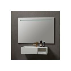 Badspiegel Lökken, Breite 120 cm weiß