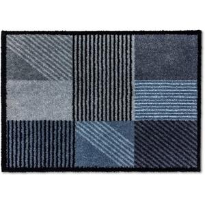 Fußmatte Manhattan 006, SCHÖNER WOHNEN-Kollektion, rechteckig, Höhe 7 mm, Schmutzfangmatte blau 50 cm x 70 cm x 7 mm