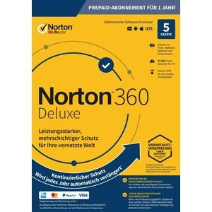 NORTON 360 DELUXE 5 Geräte - 1 Jahr kein ABO inkl.50GB - Internet Security 2020