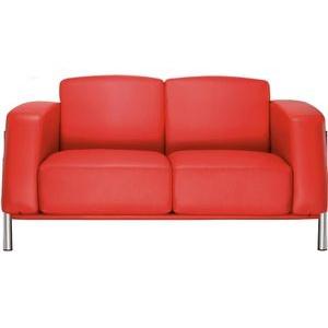 Nowy-Styl Loungesofa CLASSIC II, Echt Leder, rot, 2-Sitzer