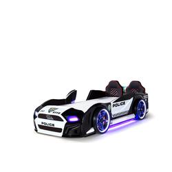Möbel-Lux Kinderbett Must Rider, Autobett Must Rider Police 500 mit Türen inkl. Sound Sirene
