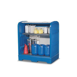 DENIOS PolySafe-Depot PSR 8.12 mit Gitterrost und 1 Gitterrostregalboden aus Polyethylen PE 114-783