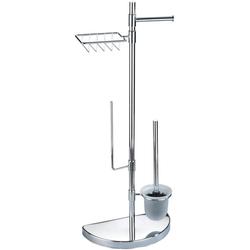 WC-Garnitur Raumsparwunder, WENKO, mit Ersatzrollen- und Feuchttücher-Halter