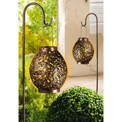 dynamic24 Gartenleuchte Solar Laterne mit Stab, Solarleuchte Solarlaterne Garten Outdoor Lampe Solar Leuchte