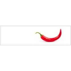 Küchenrückwand - Spritzschutz profix, Hot Chili, 220x60 cm rot