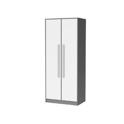 Feldmann-Wohnen Kleiderschrank GIT Griffe in Grau