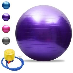 TOMSHOO Yoga-Ball, Anti-Burst, verdickt, Stabilität, Balance-Ball, Pilates, Barre, Physiotherapie, Gymnastikball, 45 cm/55 cm/65 cm/75 cm, Geschenk, Luftpumpe