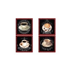 HTI-Line Glasuntersetzer Untersetzer 4-tlg Coffee, 4-teilig, 4-tlg., Untersetzer