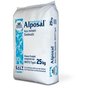 ALPOSAL Poolsalz aus reinem Siedesalz (Chlorinator geeignet) im 25kg Sack