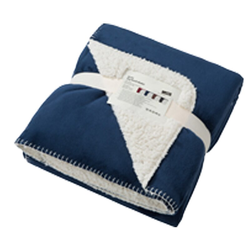 Sherpafleece Kuscheldecke | James & Nicholson navy/natural