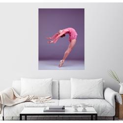 Posterlounge Wandbild, Junge Ballerina im rosafarbenen Kleid 100 cm x 130 cm